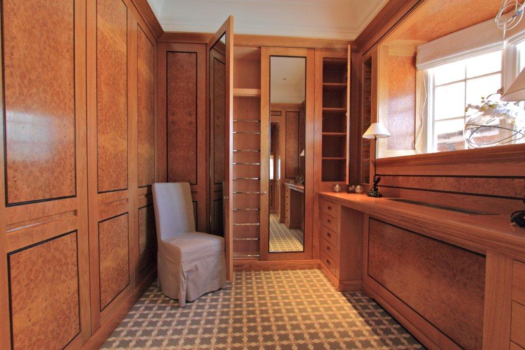 Dressing rooms with fitted wardrobes and make-up desk