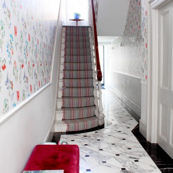 Entrance hall with gorgeous traditional bespoke made marble borders, marbled tiles