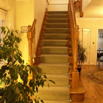 developed for a client - traditional looking staircase made of rustic English Oak